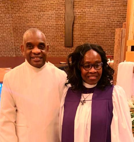 Bishop Dr. Leolene with her husband Rev. Harris