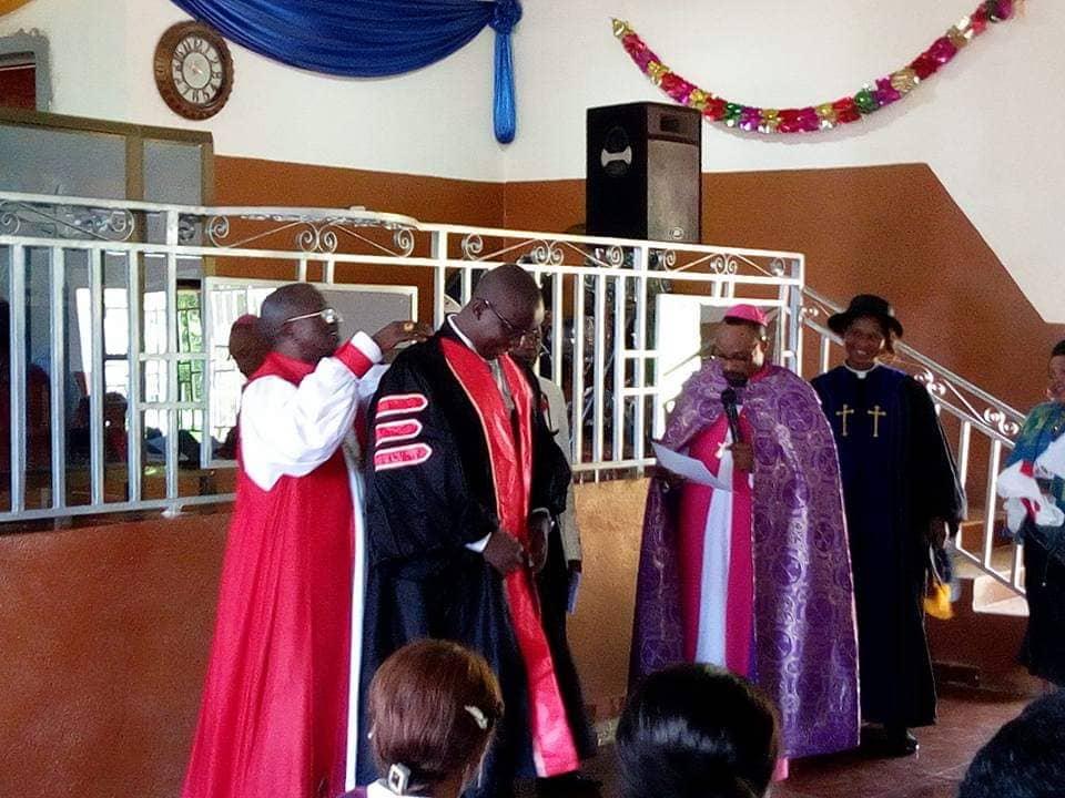 Bishop Dr. Wilberforce and Bishop Dr. Dore officiating